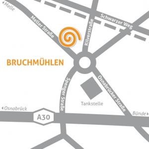 Anfahrt HörCenter am Wiehen in Rödinghausen Bruchmühlen